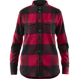 Fjällräven Canada Chemise manches longues Femme, red